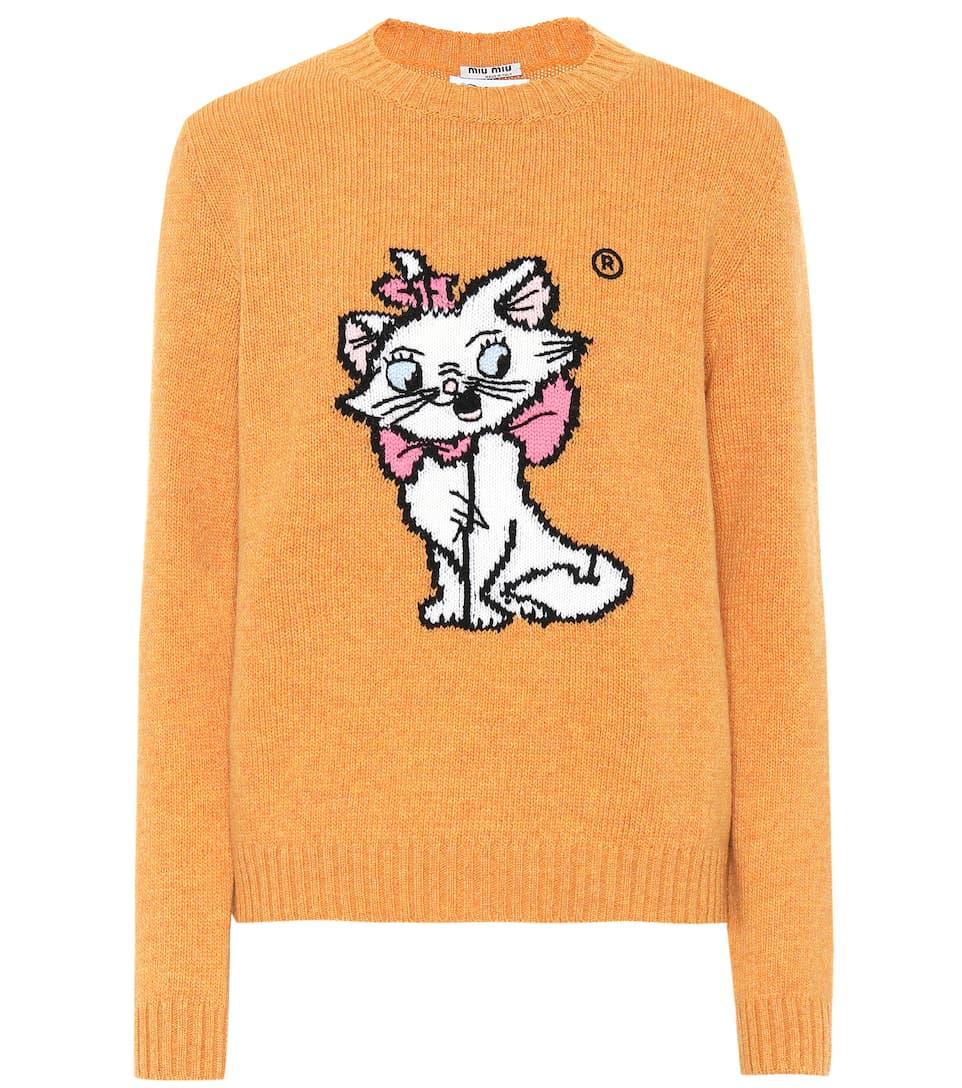 a432a36194f Miu Miu - x Disney® intarsia wool sweater