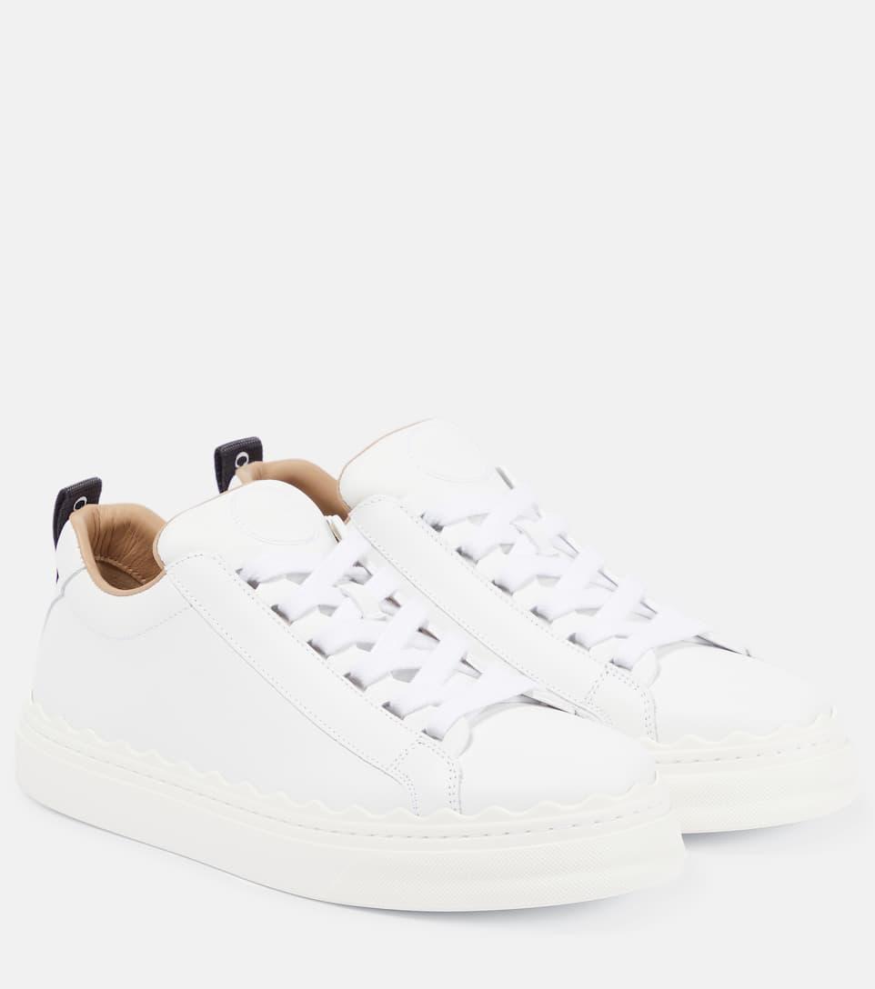 Chloé - Lauren leather sneakers | Mytheresa