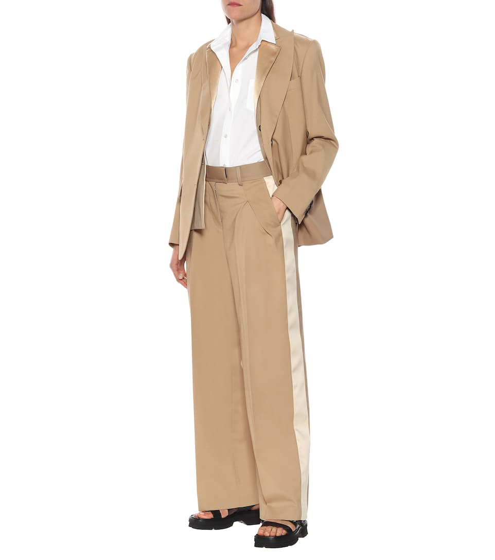 Sacai - High-rise wide-leg pants