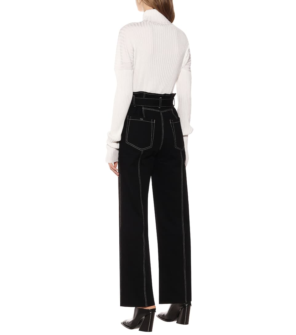 COLOVOS - High-rise straight jeans