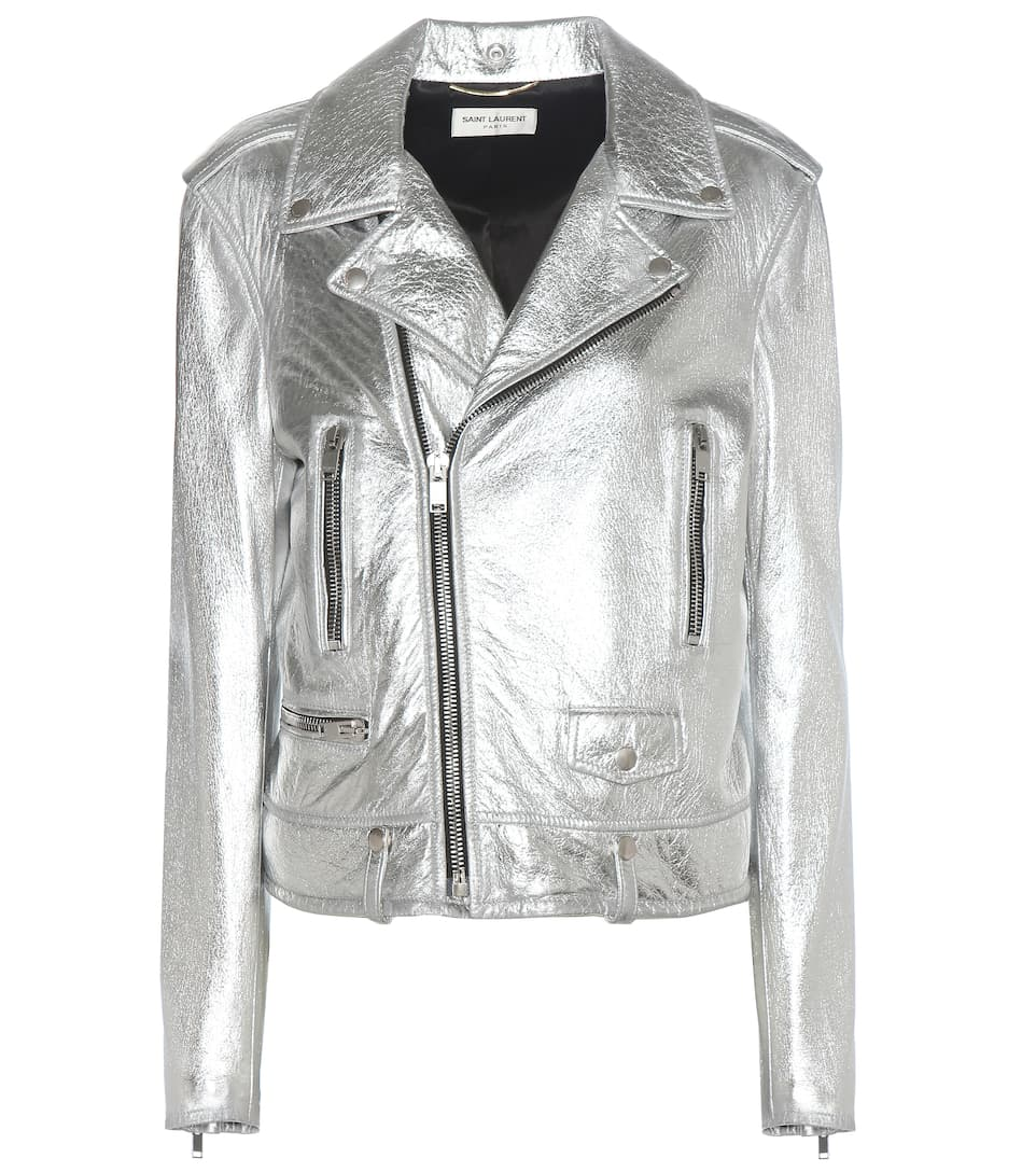 Saint Laurent Classic L01 leather biker jacket
