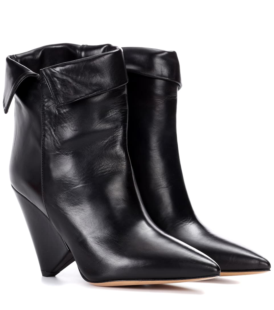 Isabel Marant Leather Ankle Boots 0At4FVnl4s