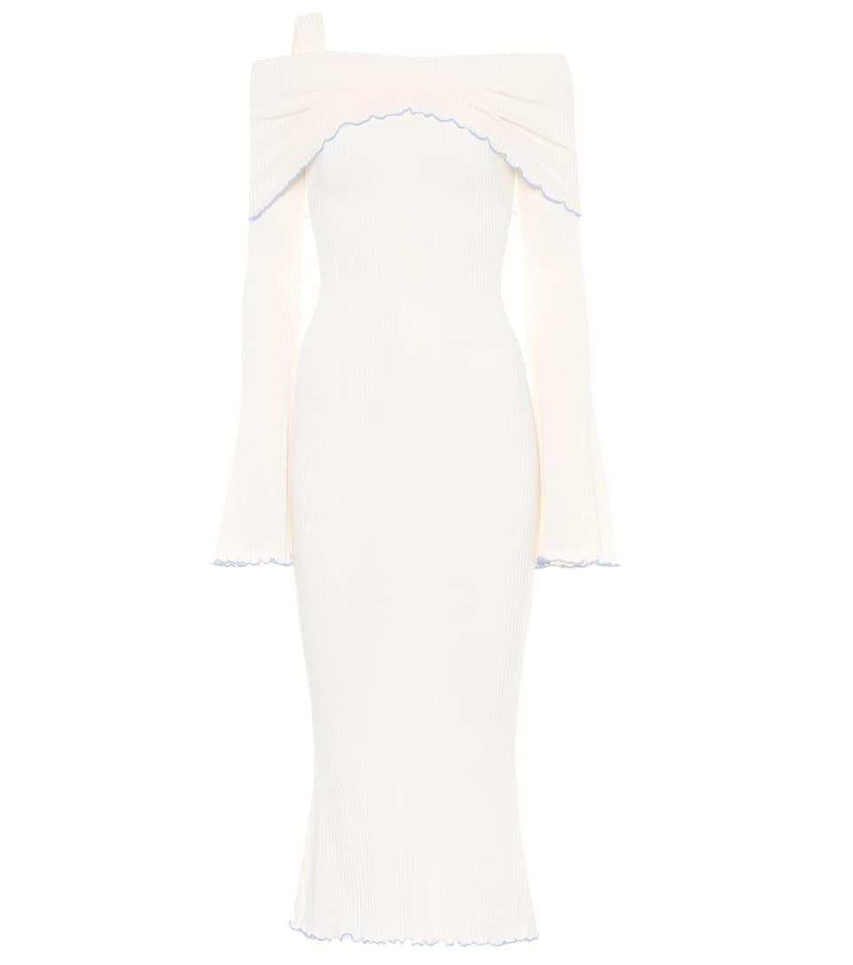 Ellery Ribbed Off-shoulder Dress Dolly