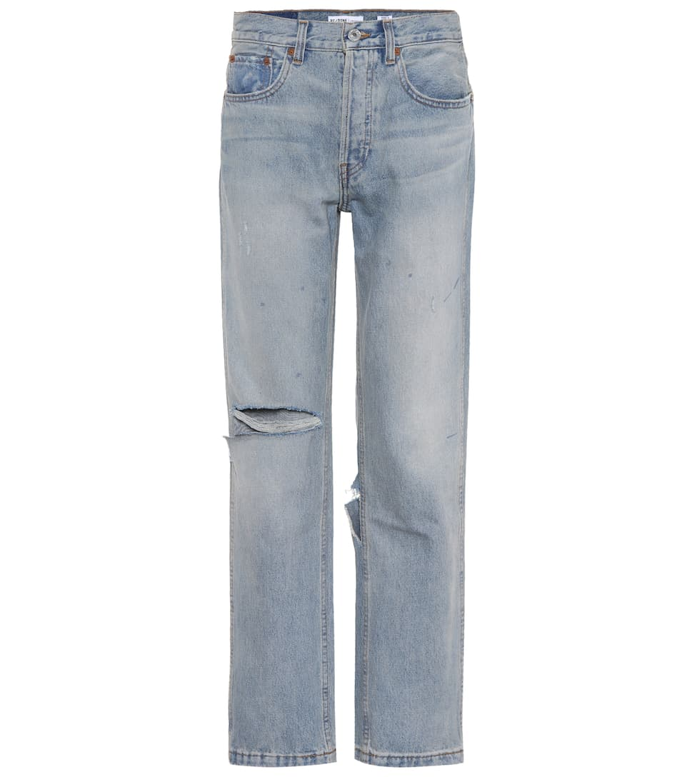 Re/Done Jeans Grunge Straight mit Distressed-Detail