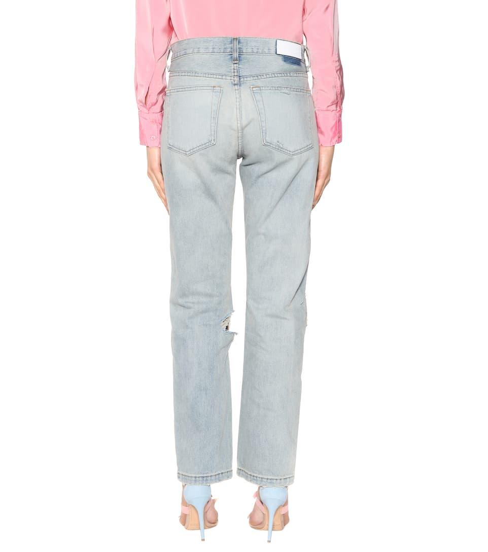 Re/done Jeans Grunge Straight Mit Distressed-detail
