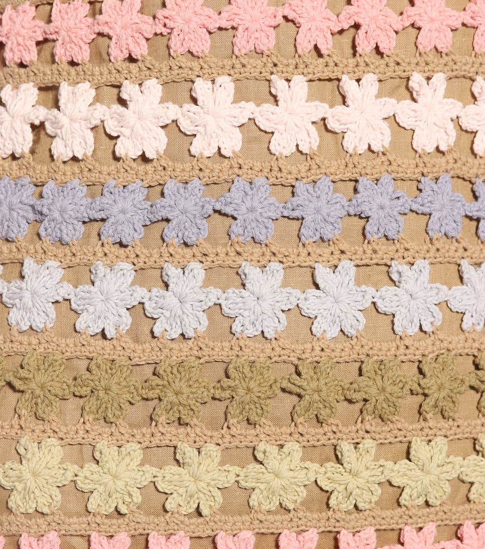 She Made Me Häkel-Minikleid Maala aus Baumwolle