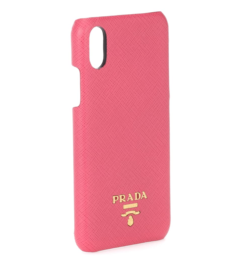 4aac243f7bb7 Saffiano Leather Iphone X Case - Prada | mytheresa