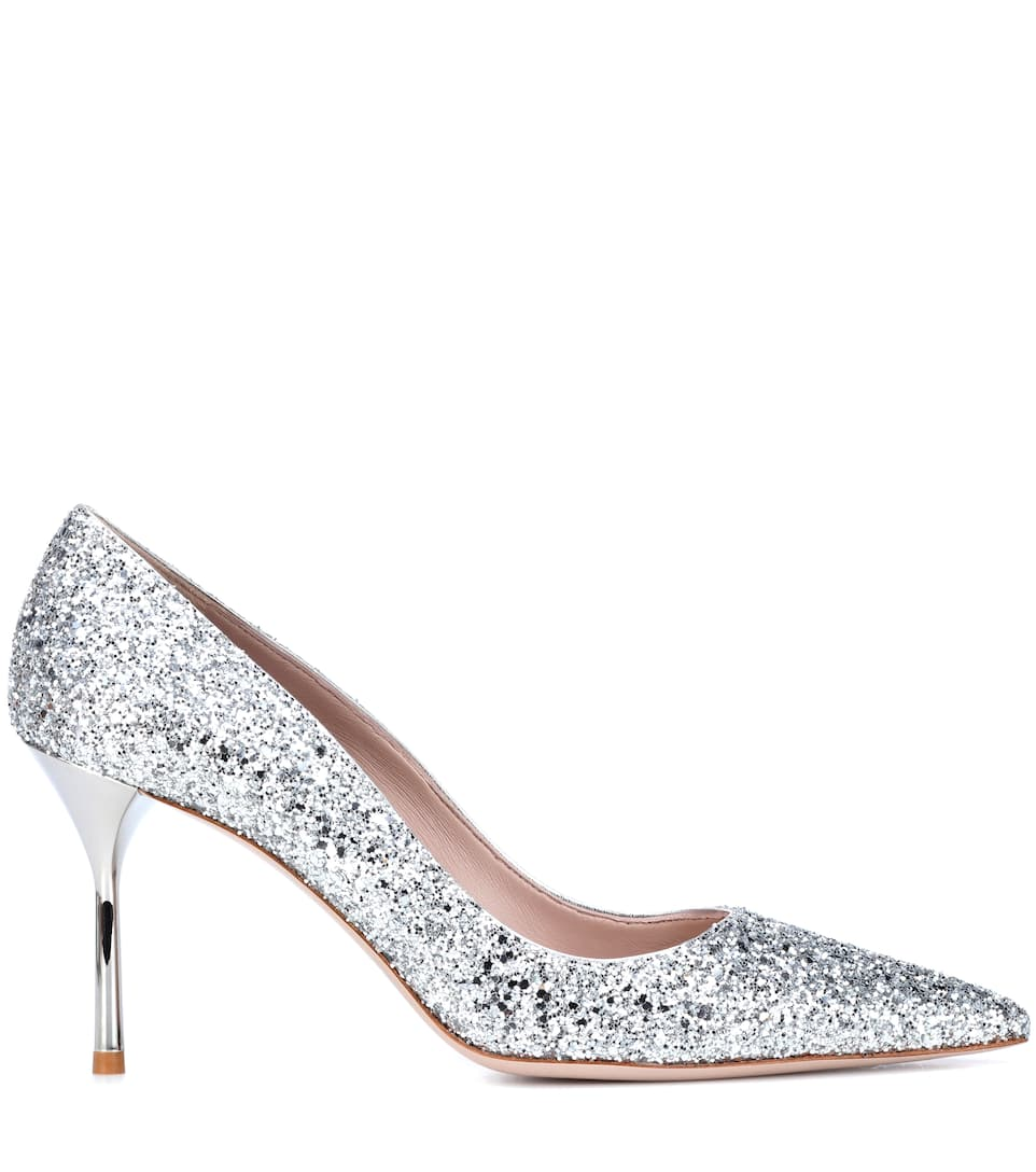 Free Shipping Amazon Miu Miu Glitter pumps Argento Amazing 94WArvYKJ