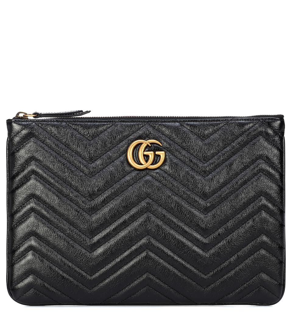Gg Marmont Quilted Leather Clutch by Gucci
