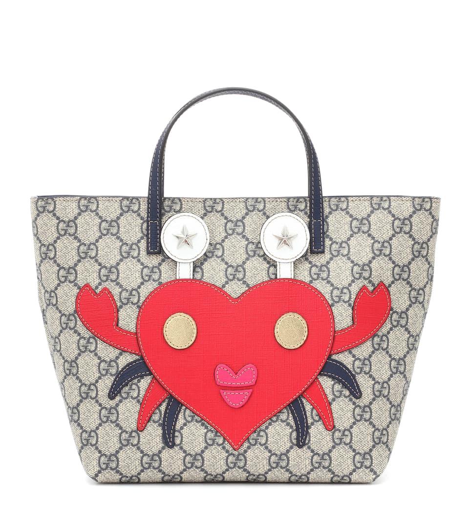 24382912a6fe Shoptagr | Gg Supreme Canvas Tote by Gucci Kids