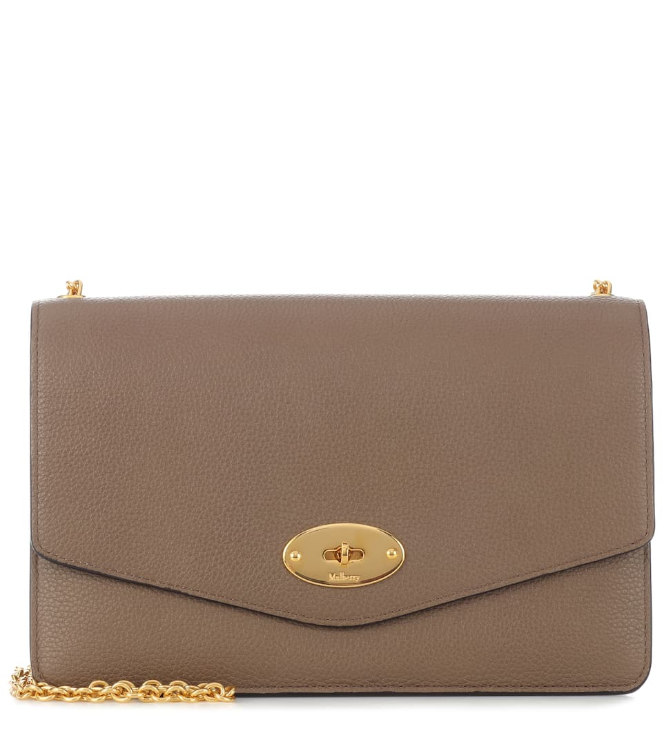 1eaf0cc33661 Darley Leather Clutch - Mulberry