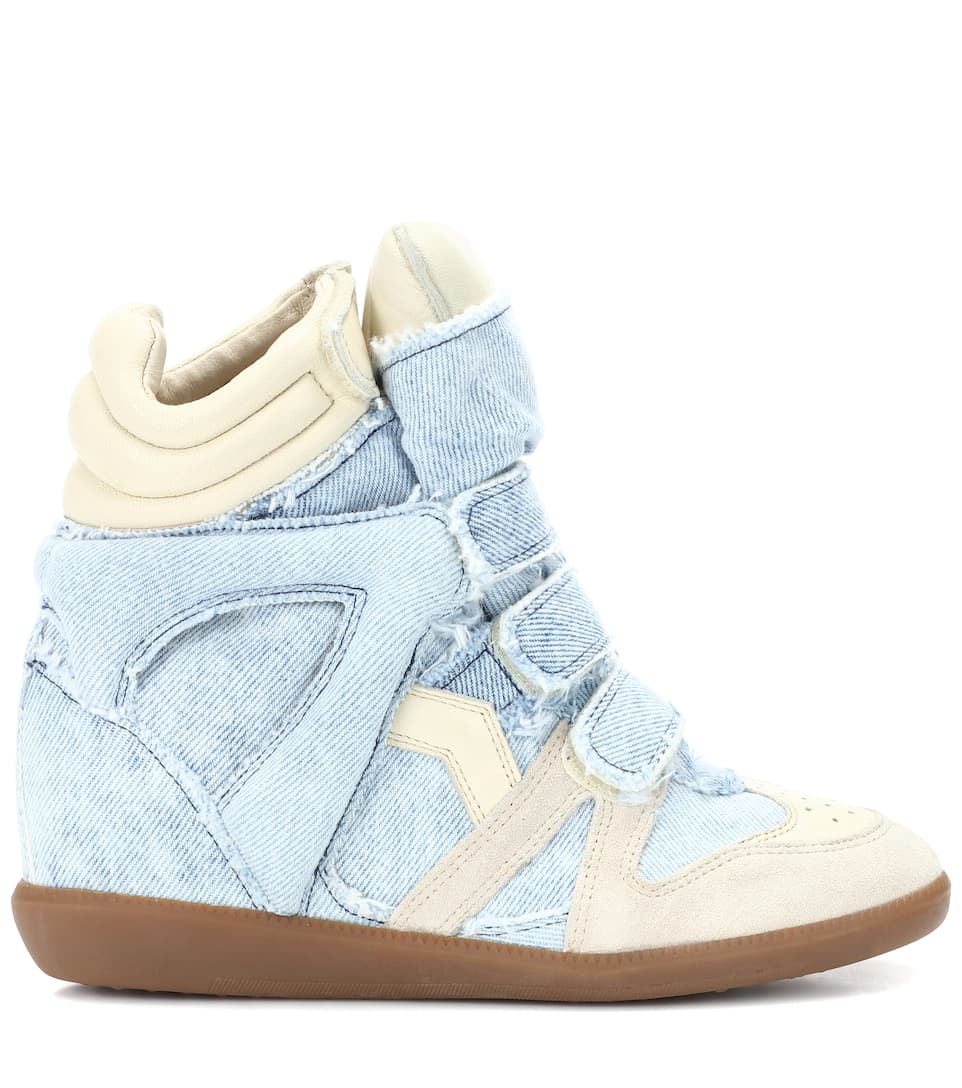 Isabel Marant Wedge-Sneakers Bekett aus Denim