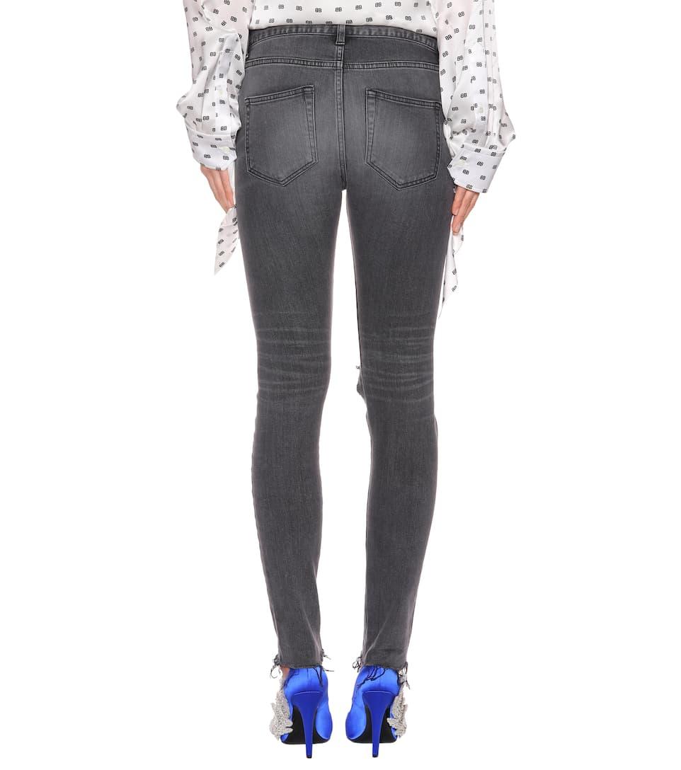 Balenciaga Distressed Skinny Jeans