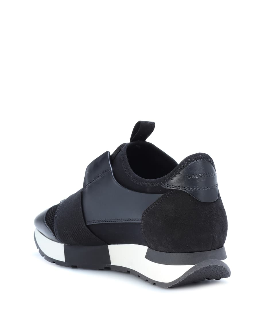 Balenciaga Sneakers Racerunner With Leather Trim