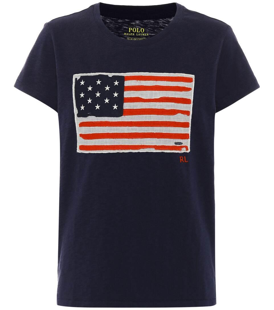 Polo Ralph Lauren Bedrucktes T-Shirt aus Baumwolle