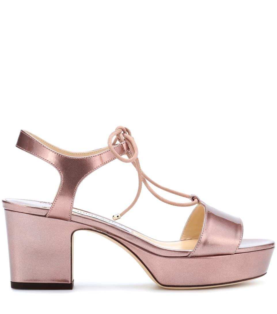 Jimmy choo Belize 65 patent leather sandals KItCdaRN