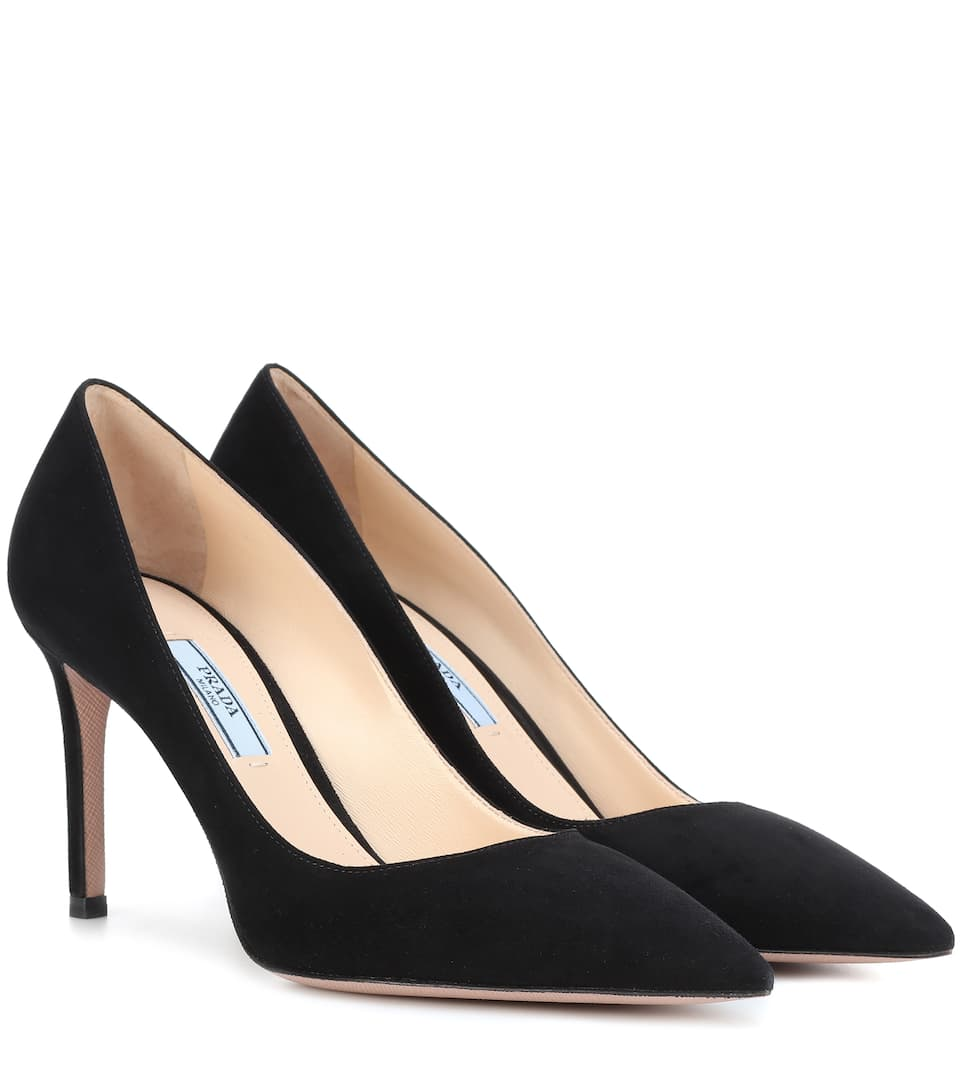 Shop For Online Buy Cheap With Credit Card Prada Suede pumps Nero QqilBKn