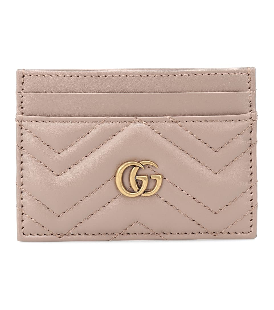 purchase cheap e20c8 c9d50 Gg Marmont Leather Card Holder - Gucci | mytheresa