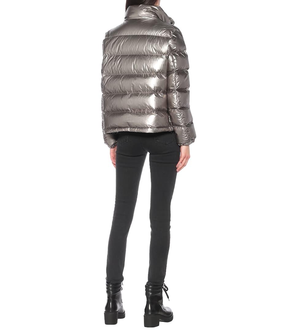 Moncler - Gris metallic down jacket