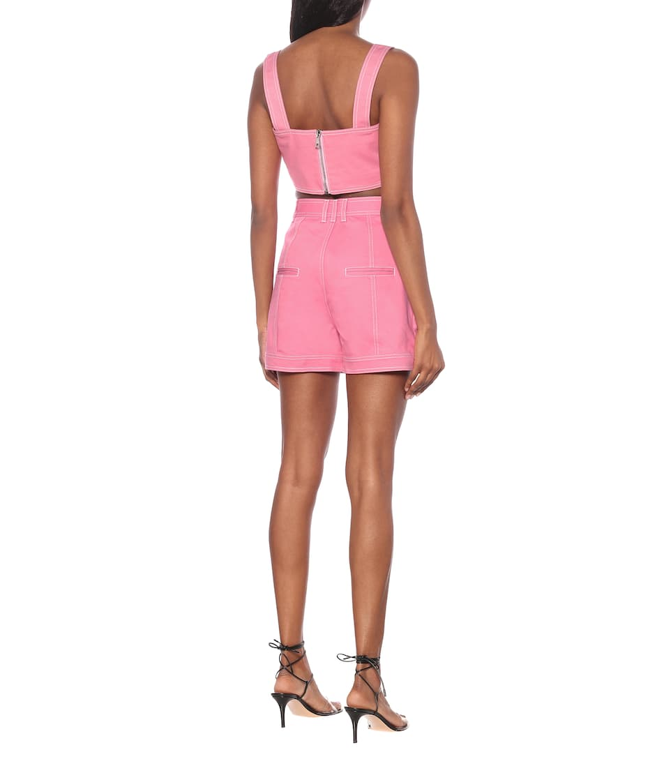 Balmain - High-rise denim shorts