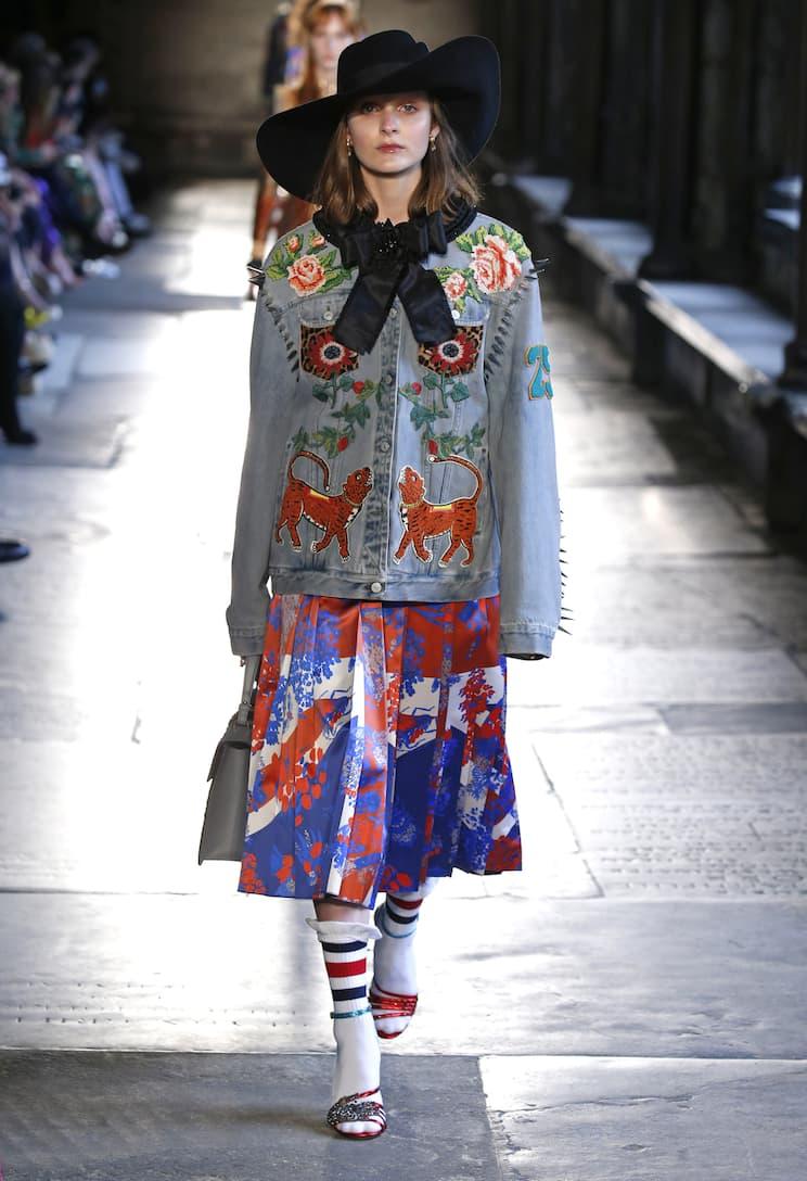 Aus Deutschland Freies Verschiffen Des Niedrigen Preises Rabatt Neue Stile Gucci Verzierte Jeansjacke 1DaRCn