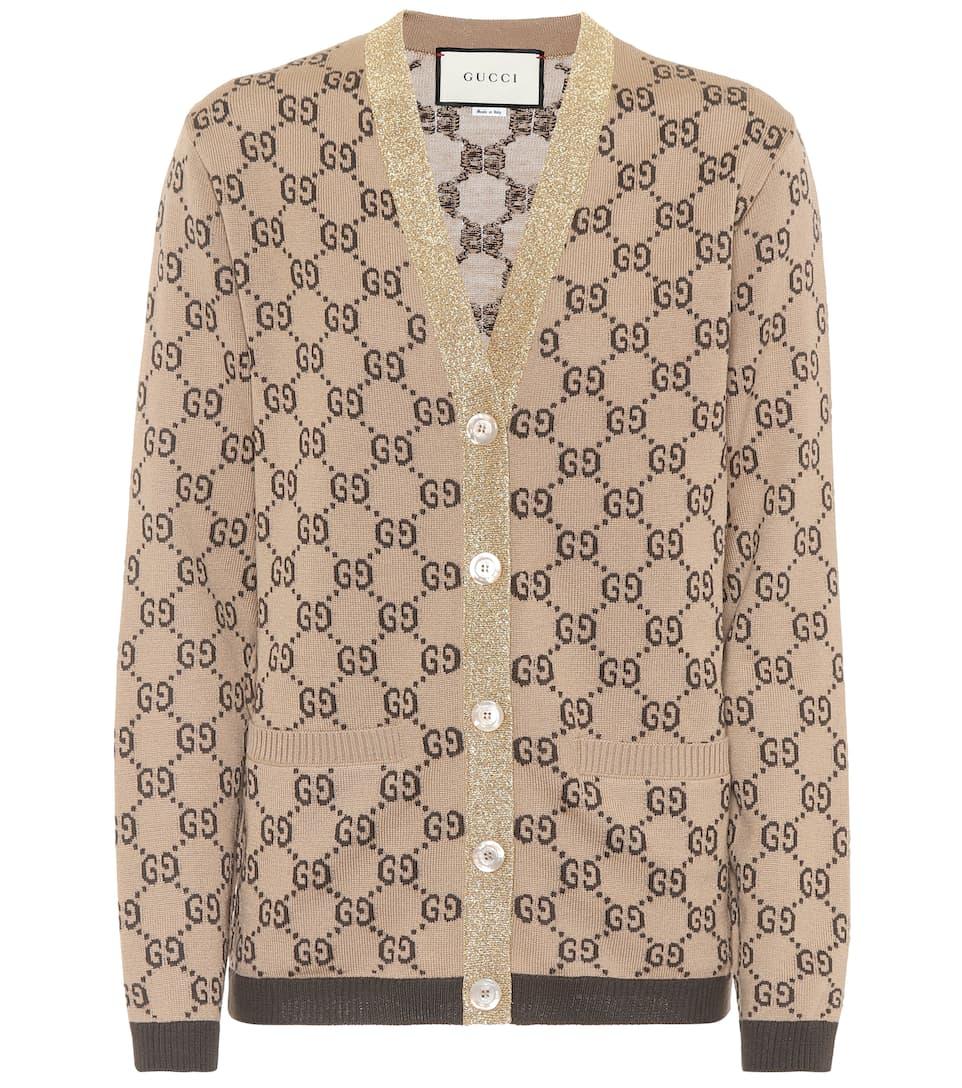 Gucci Cardigan aus GG Woll-Jacquard Sast Günstiger Preis Auslassstellen Günstig Online 2018 Neue Meistverkauft Fd1YNy9L