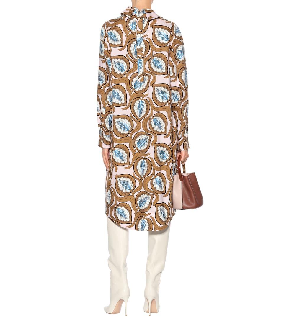 Marni Bedrucktes Hemdblusenkleid aus Baumwolle