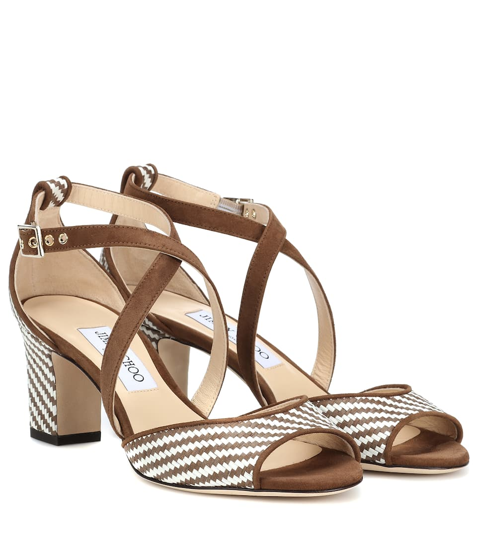 d6ad0727756c Jimmy Choo - Carrie 65 raffia sandals