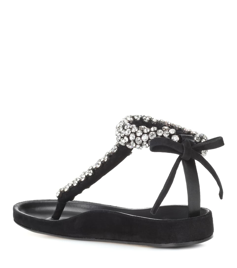 Isabel Marant Emita embellished leather sandals NLeFIHZ