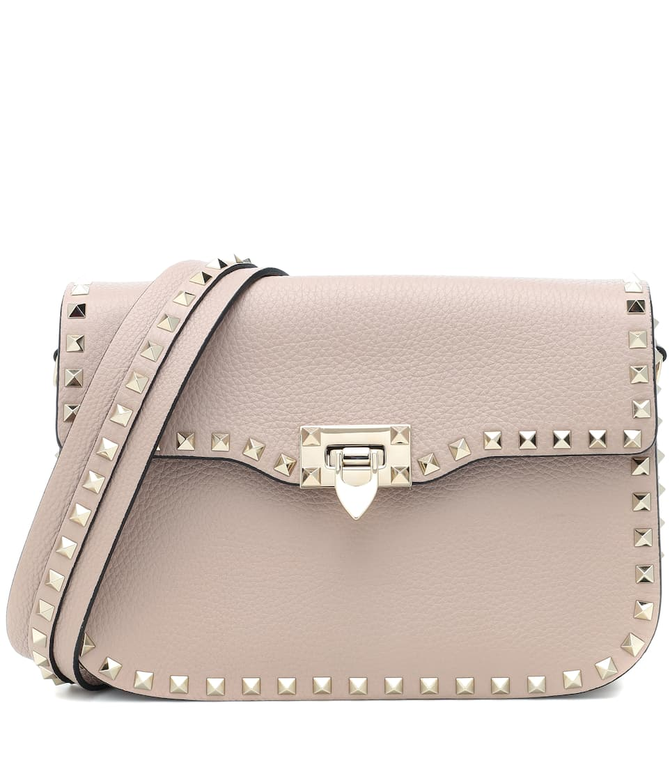 18f6e3367a Valentino Garavani Rockstud Medium Leather Shoulder Bag - Valentino |  mytheresa