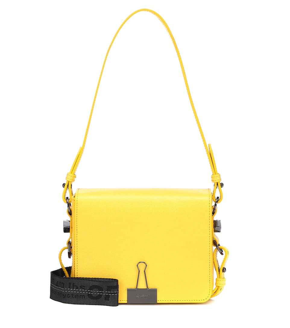 d44f78ed71f8 Off-White - Binder Clip leather shoulder bag