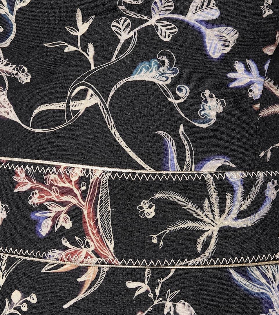 Peter Pilotto - Asymmetric floral midi dress