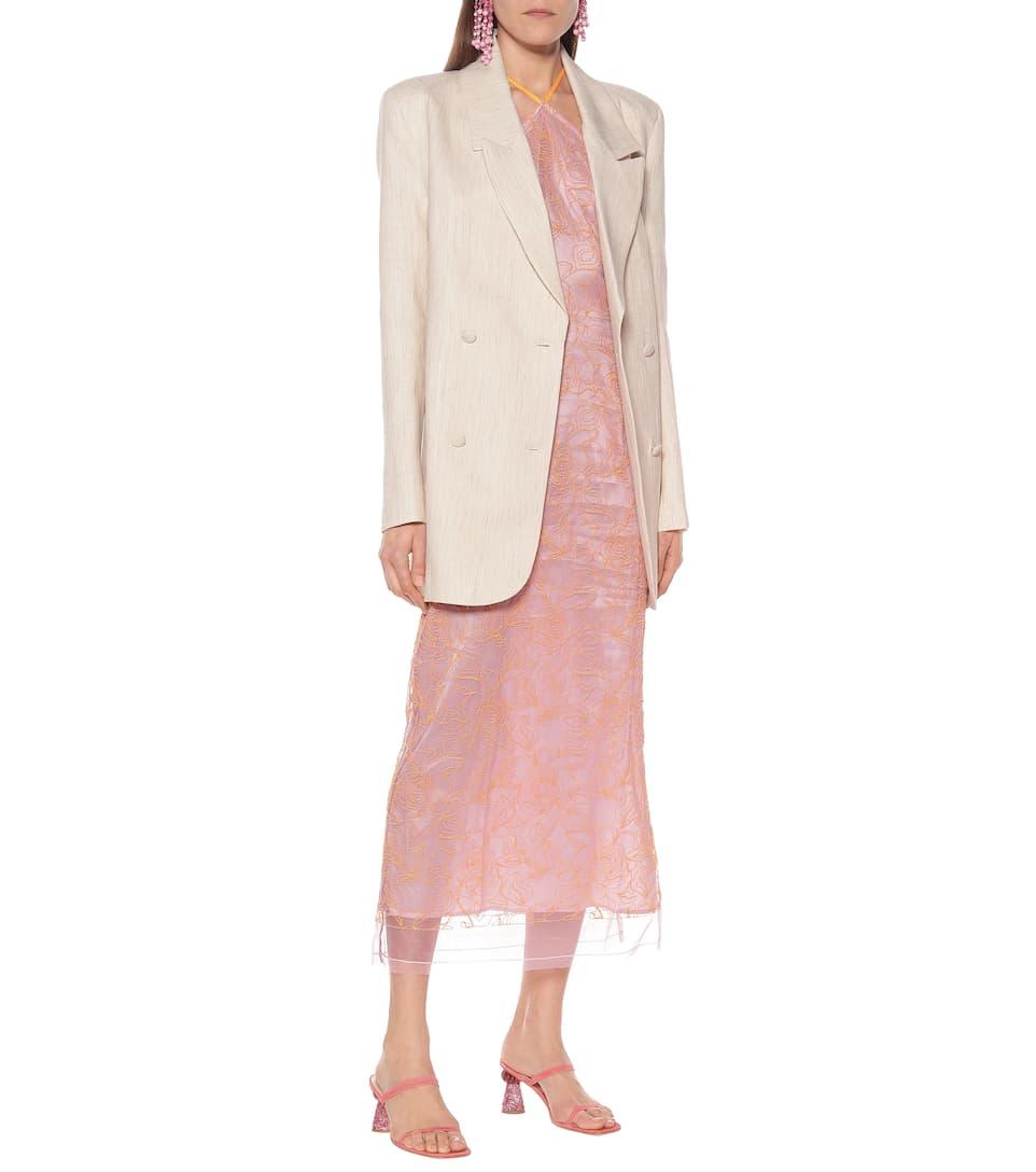 Jacquemus - La Robe Lavandou embroidered dress