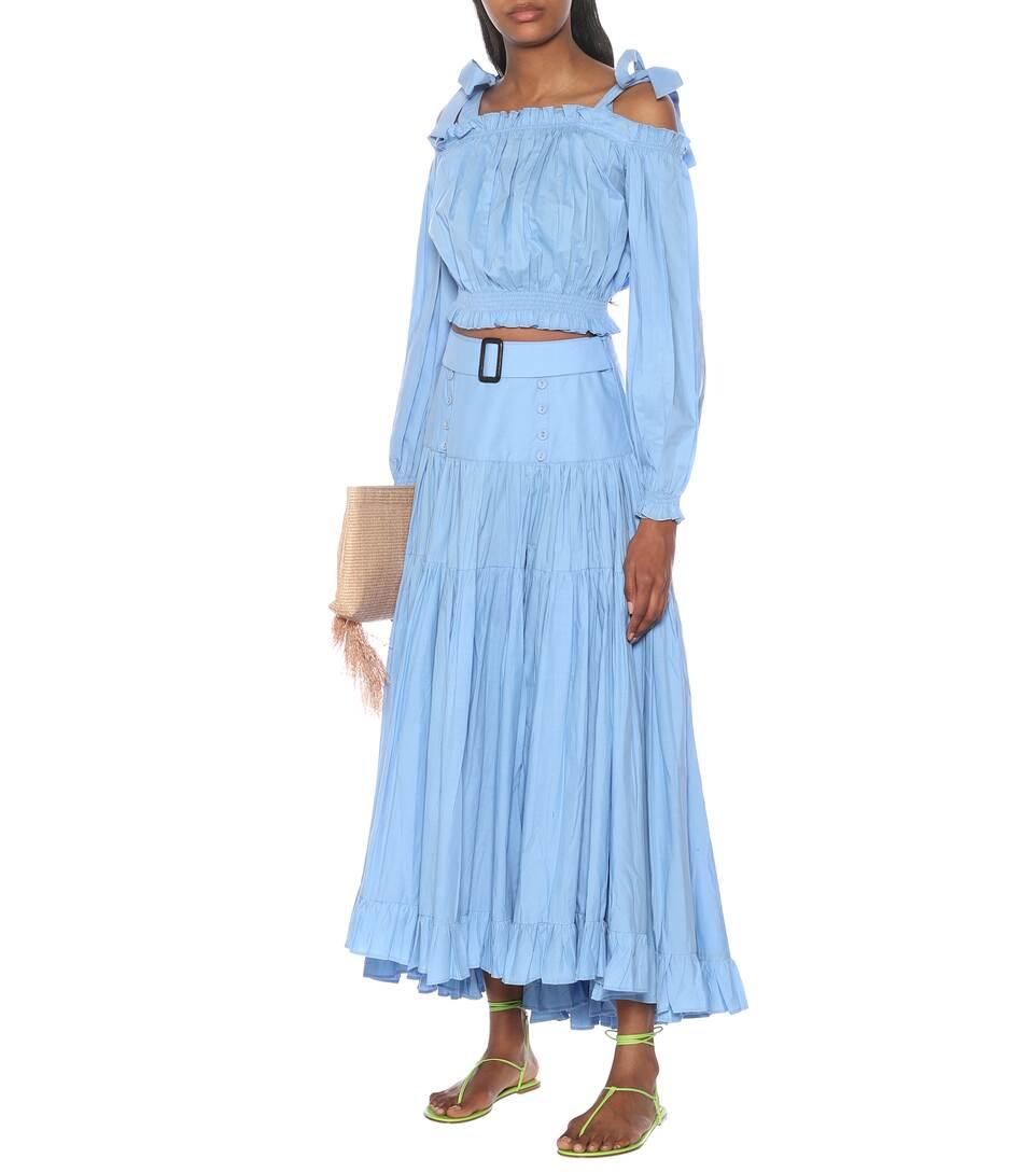 Alexandra Miro - Gypsy cotton crop top