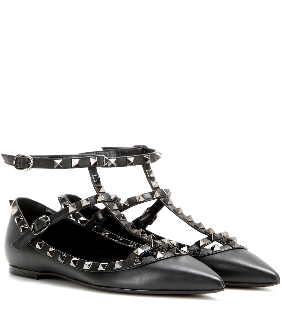 garavani en stud flat ikrix shop rock by valentino rockstud spike shoes