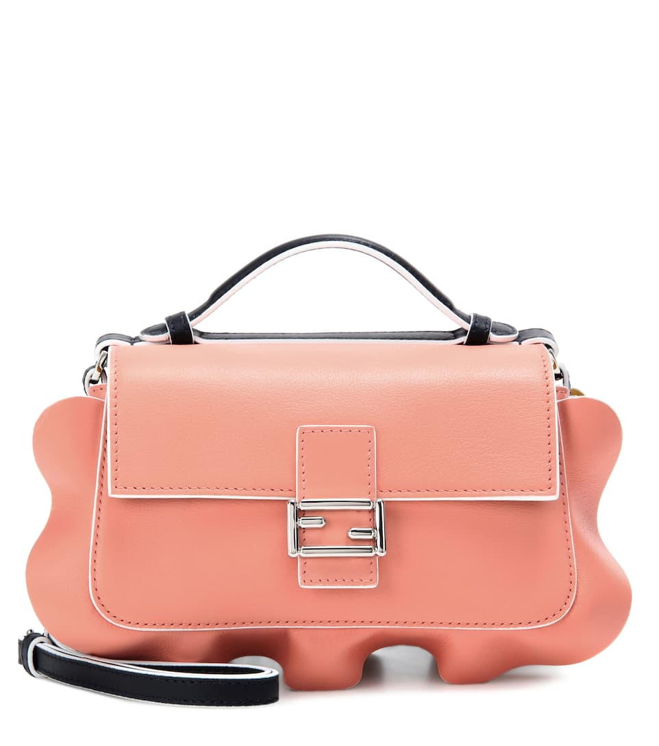 Fendi Double Micro Baguette leather shoulder bag