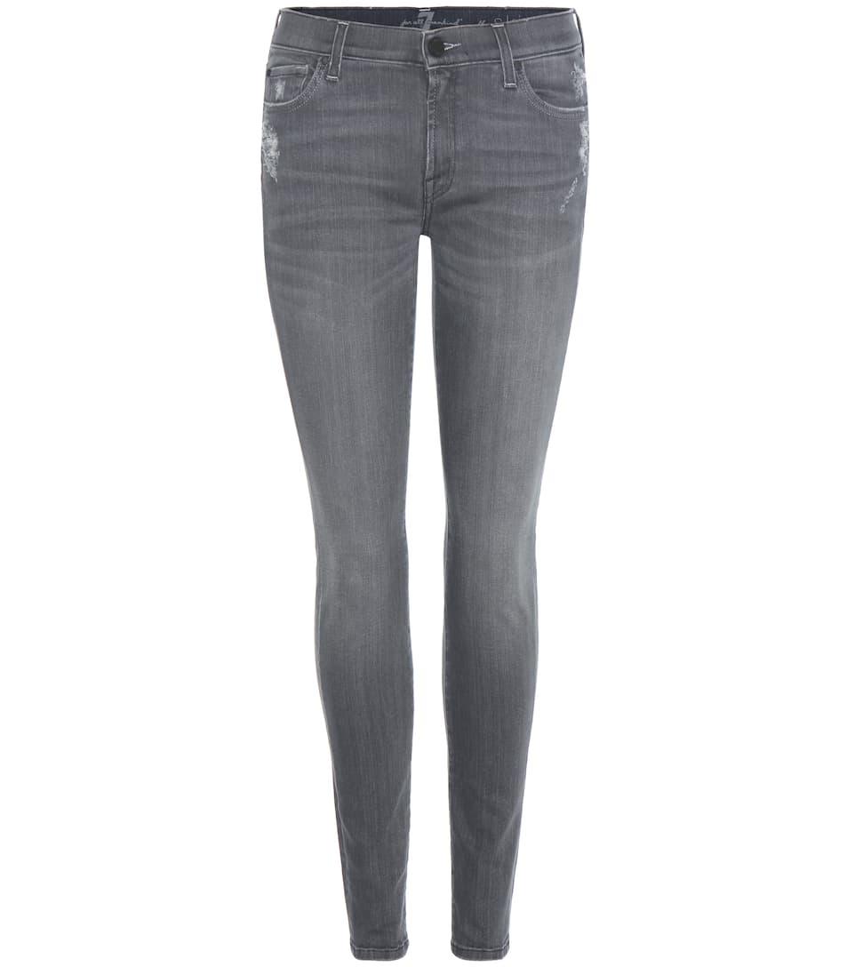 7 For All Mankind Jeans The Skinny mit Destroyed-Effekt