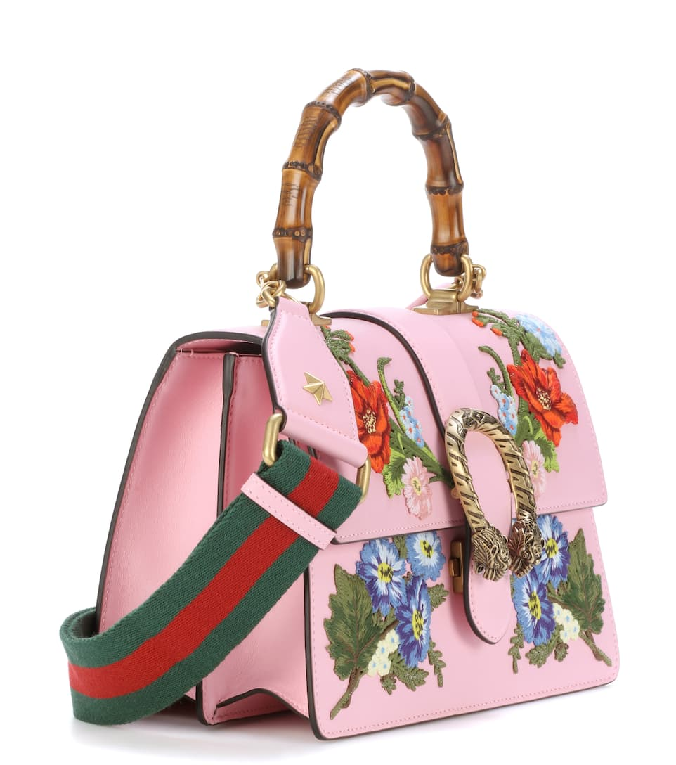 GUCCI SMALL DIONYSUS TOP HANDLE LEATHER SHOULDER BAG ...