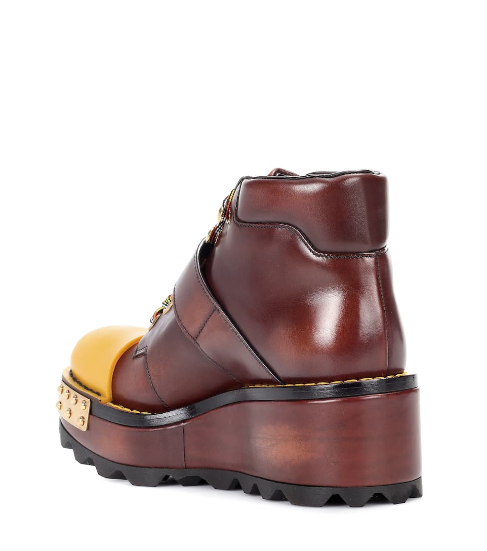 Prada Leather Ankle Boots From