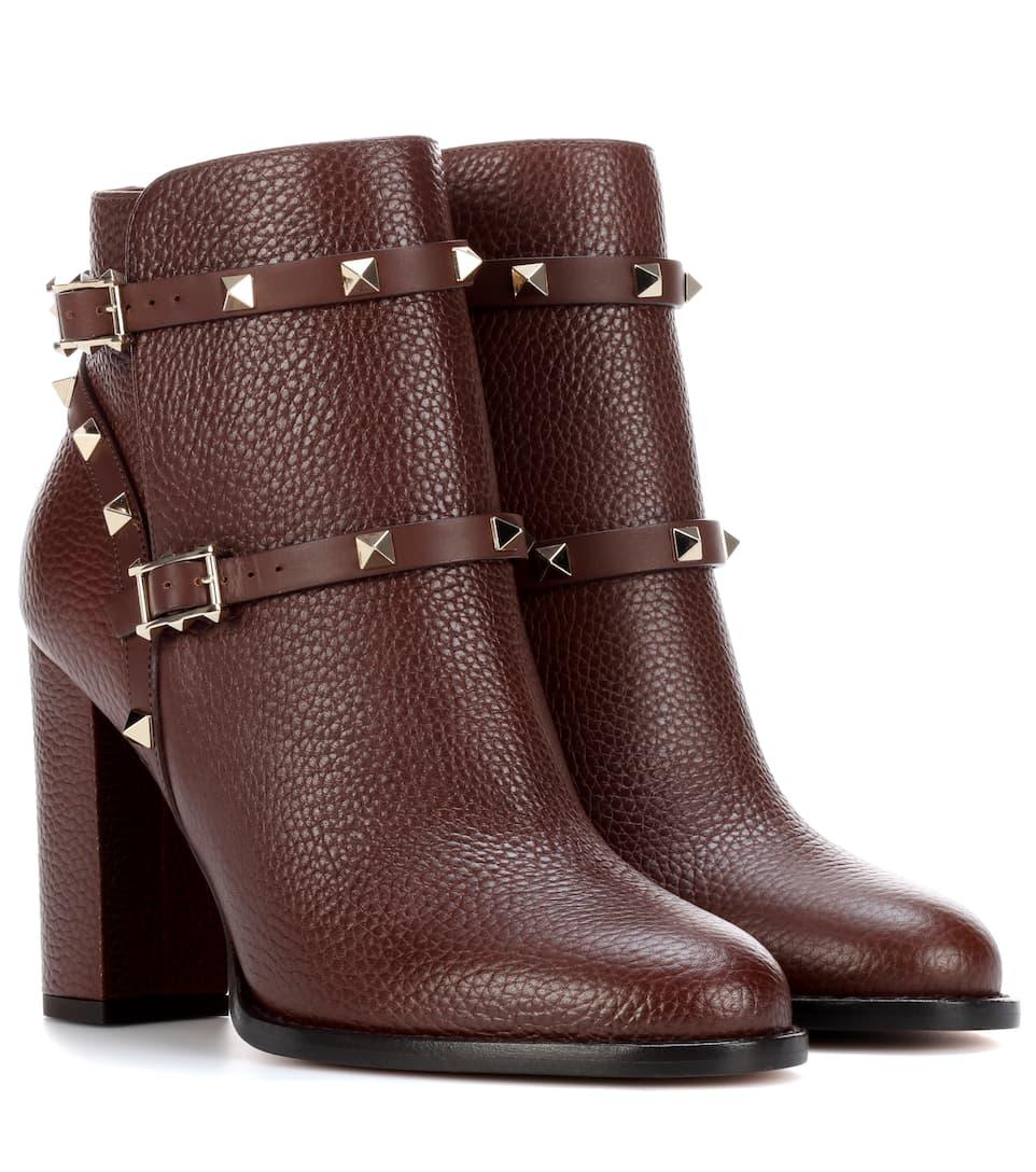Valentino Valentino Garavani Rockstud Ankle Boots aus Leder Bester Lieferant Freies Verschiffen Outlet-Store Billig Verkaufen Niedrigsten Preis Billigshop bomzv0y9