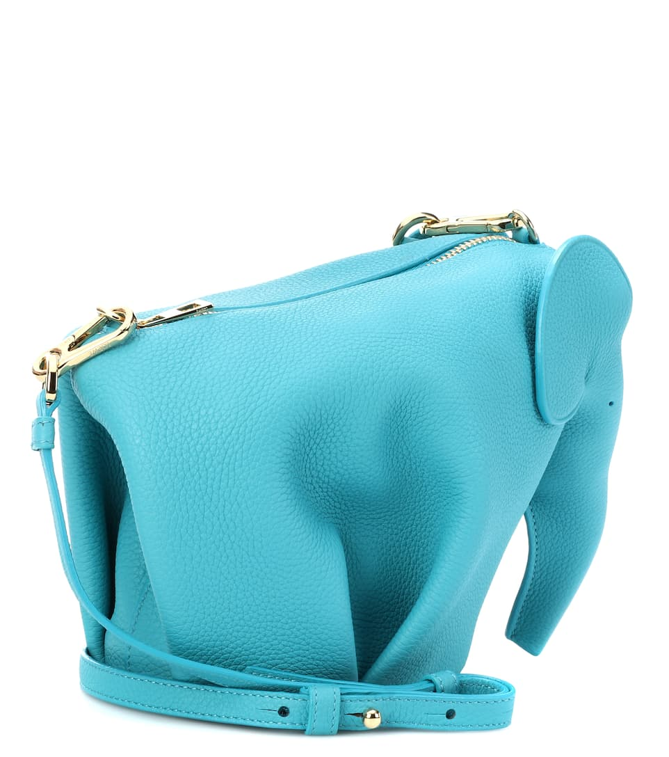 de bandolera Elephant turquesa Bolso Loewe Mini cuero W0naBxT