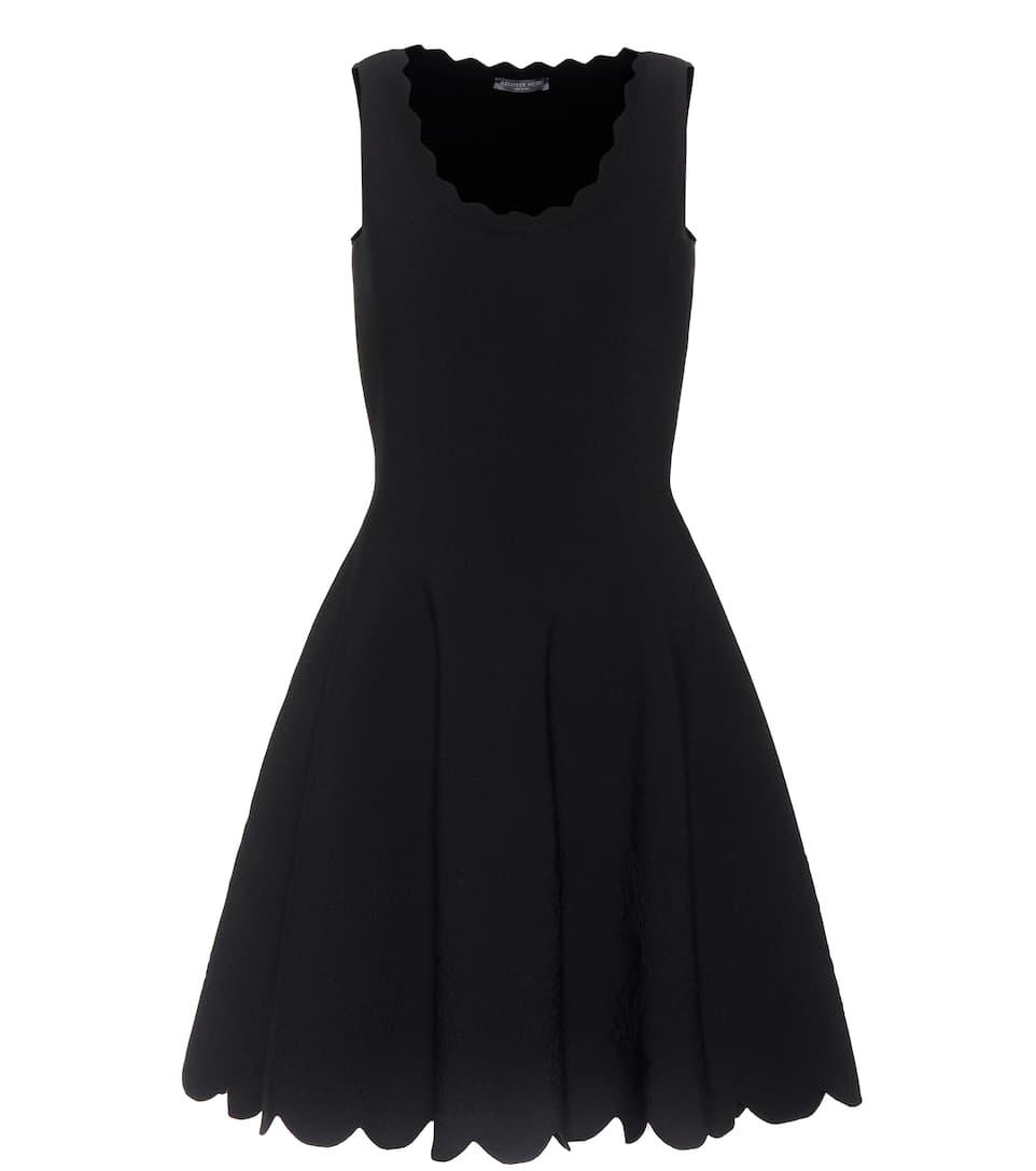 Alexander McQueen Kleid aus Crêpe mit Wellenkanten