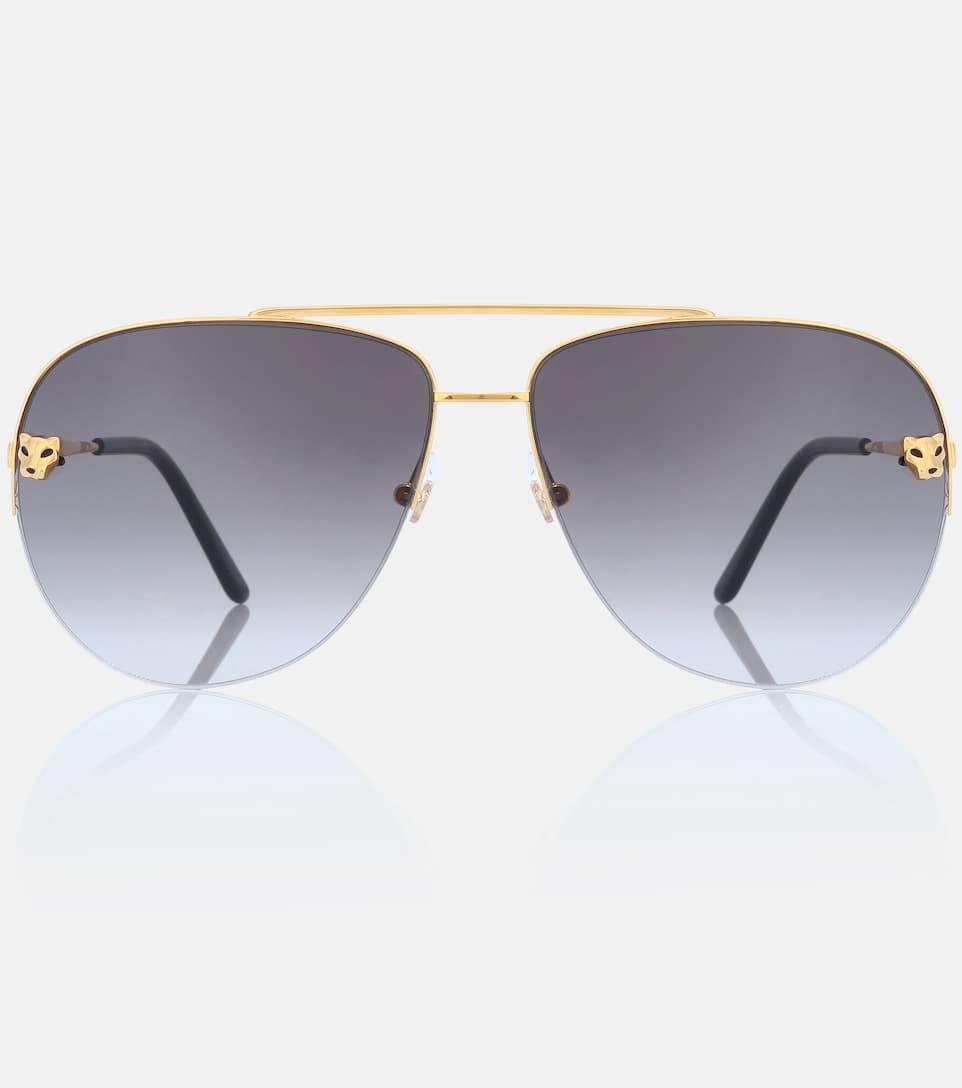 9cc787dbdd5d Panthère De Cartier Aviator Sunglasses - Cartier Eyewear Collection ...