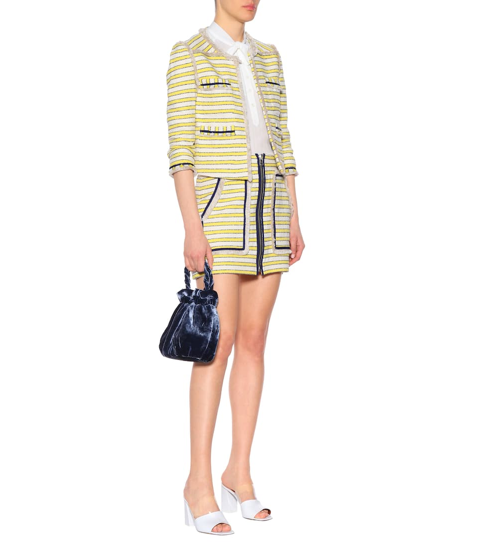 tweed de White Veronica Lynden Off Yellow Beard minifalda 6IwaOA