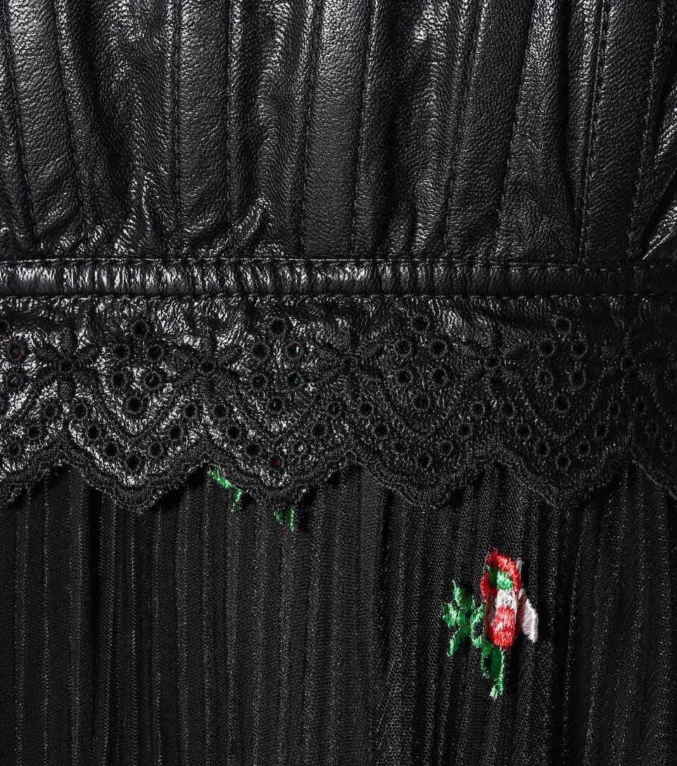 Philosophy Di Lorenzo Serafini Sleeveless floral dress Black Discount How Much X8Yizl