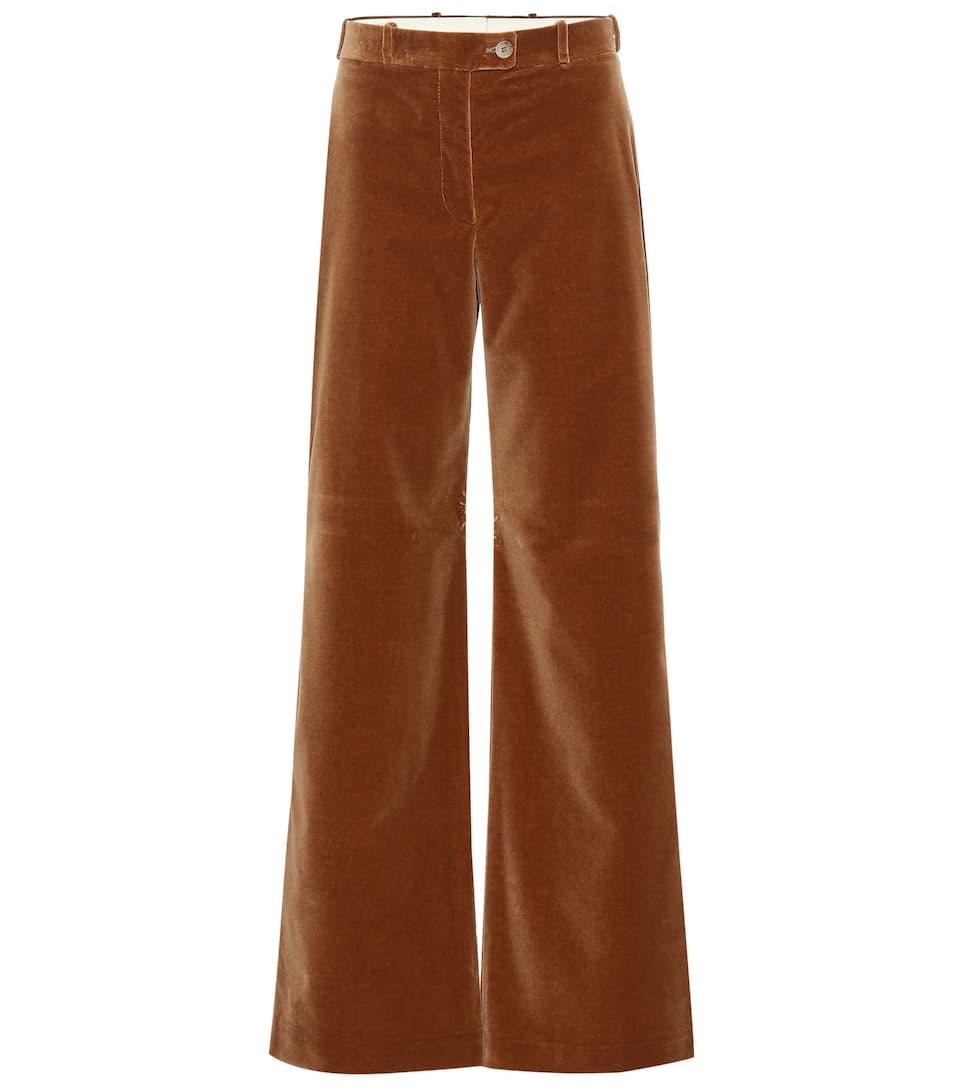Pantalon Évasé À Taille Haute En Velours   Acne Studios - mytheresa 96d132364c2