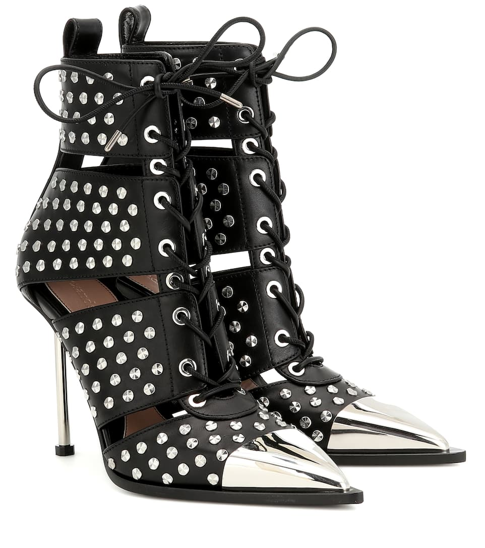 565e9d59557 Alexander McQueen - Studded leather ankle boots | Mytheresa