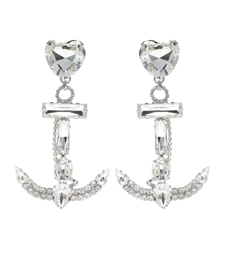da11d63d69 Crystal Anchor Earrings - Alessandra Rich | mytheresa.com