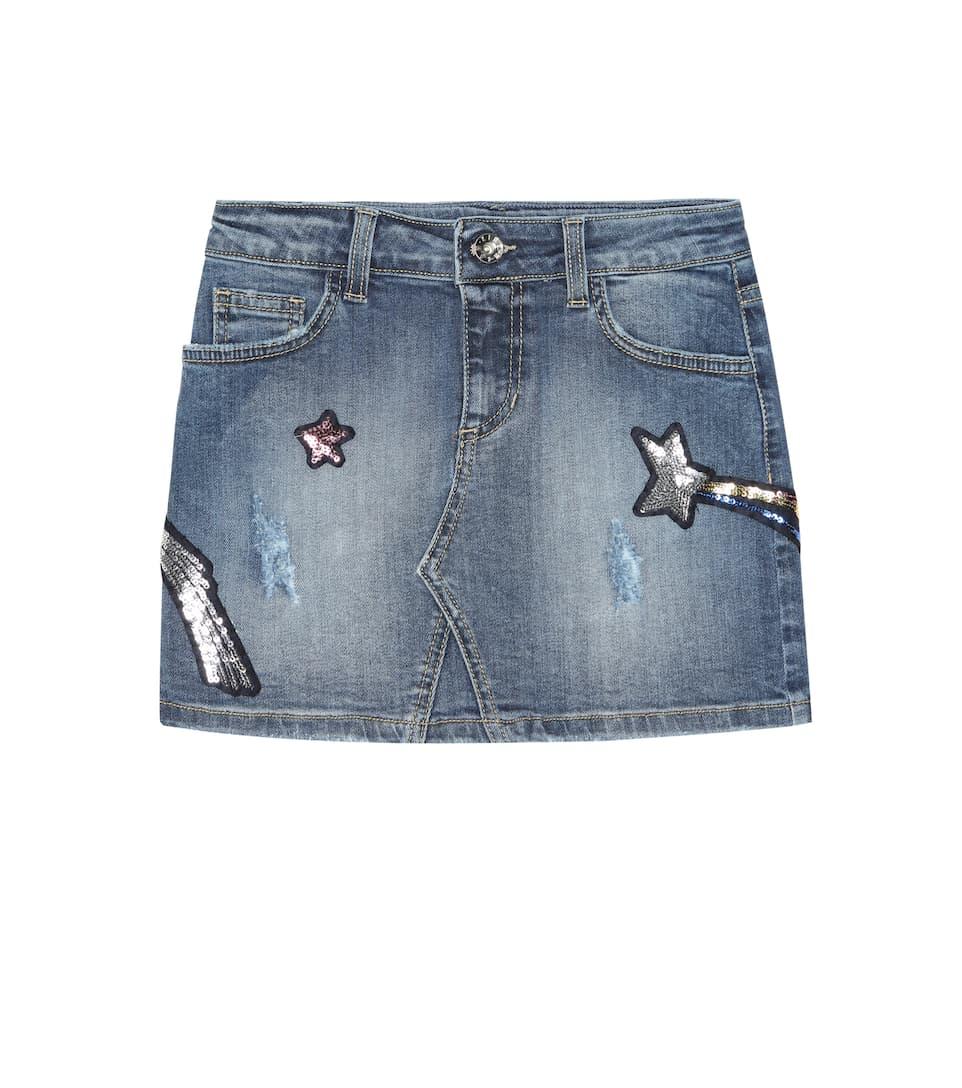 aca407152 Minifalda de jean con adornos