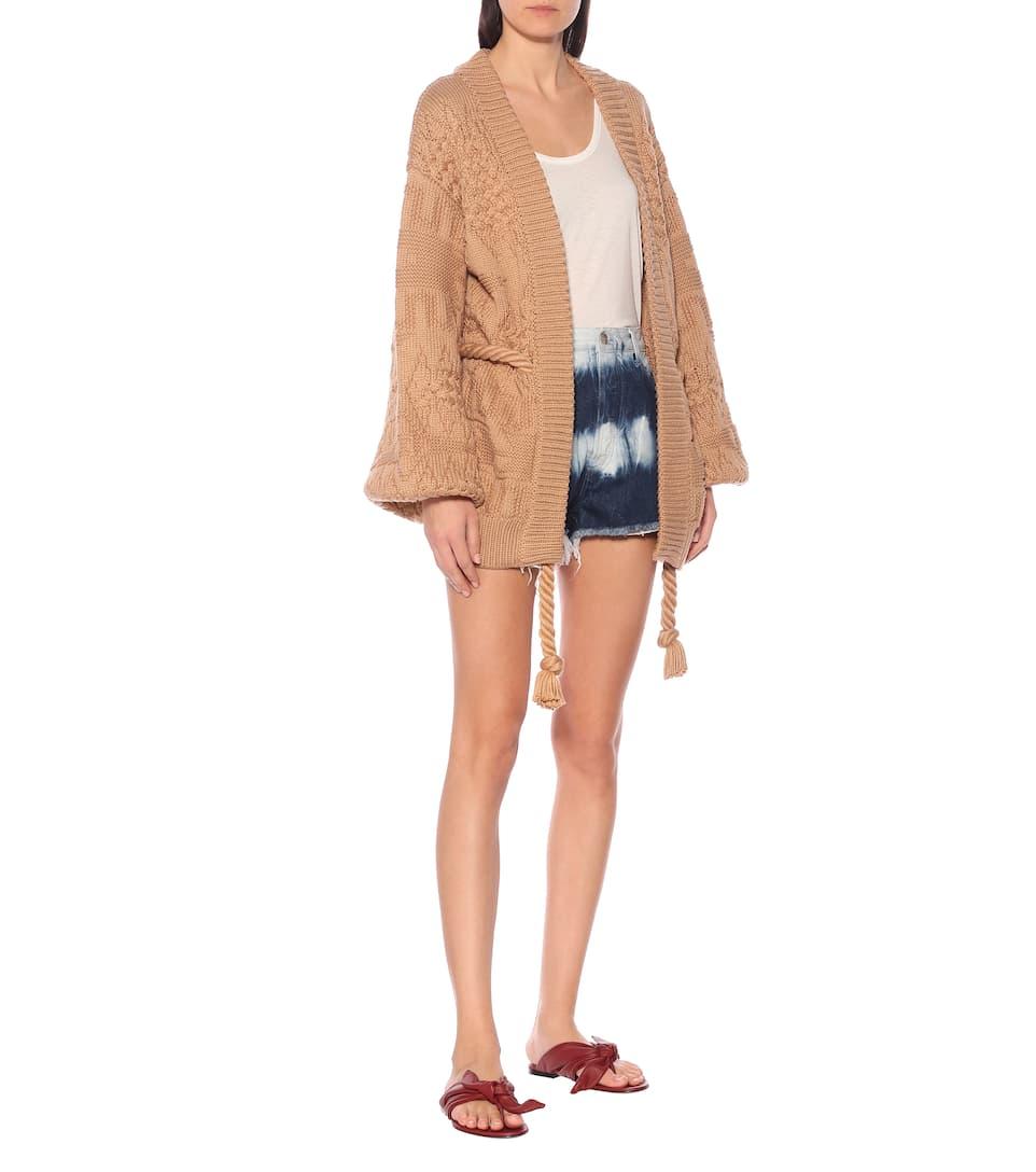 Alanui - Torchon cotton-blend cardigan